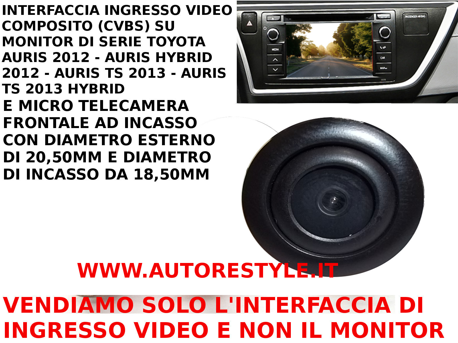 AURIS VIDEO IN + fronta camera