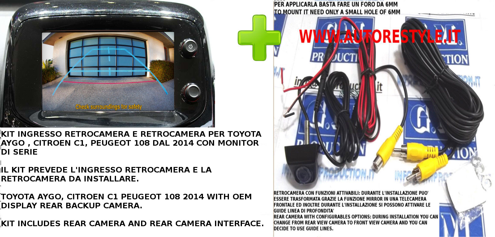 END - AYGO 108 C1 2014 KIT RETROCAMERA