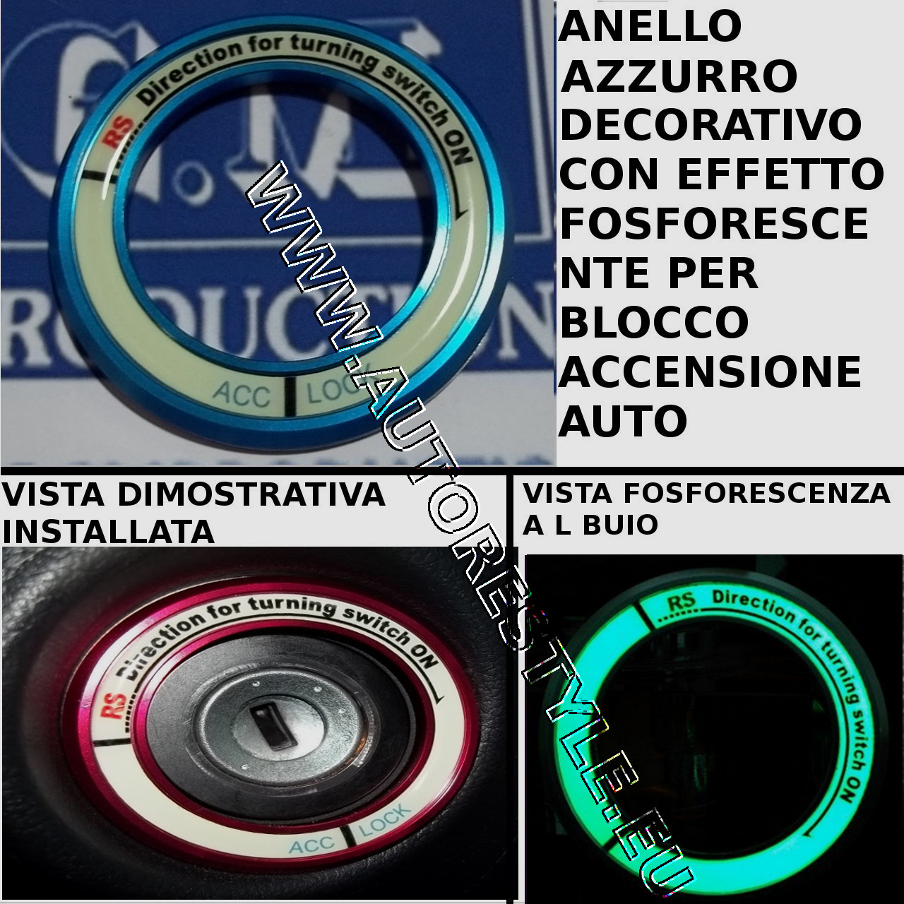 RING AZZURRO TOYOTA AND KIA RIO 2011
