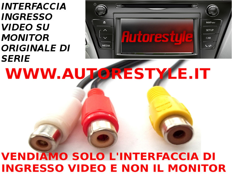INTERFACCIA DI INGRESSO AUDIO VIDEO COMPOSITO RCA (CVBS ) SU MONITOR DI SERIE E TOUCH&GO PRIUS PLUS 2013