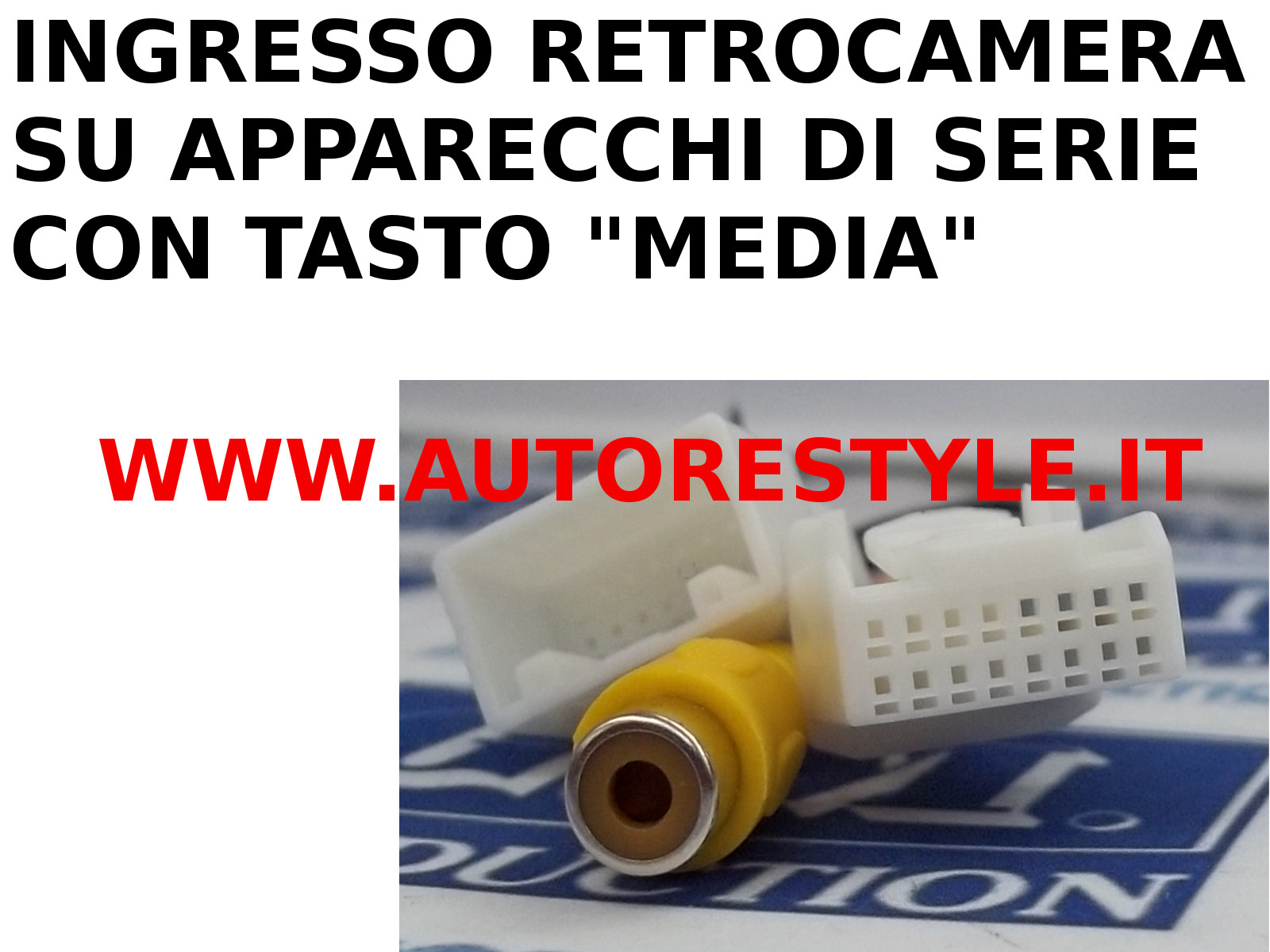 INTERFACCIA INGRESSO RETROCAMERA SU MONITOR DI SERIE TOYOTA GT86 PRIUS E PRIUS PLUS CON TASTO MEDIA DAL 2012