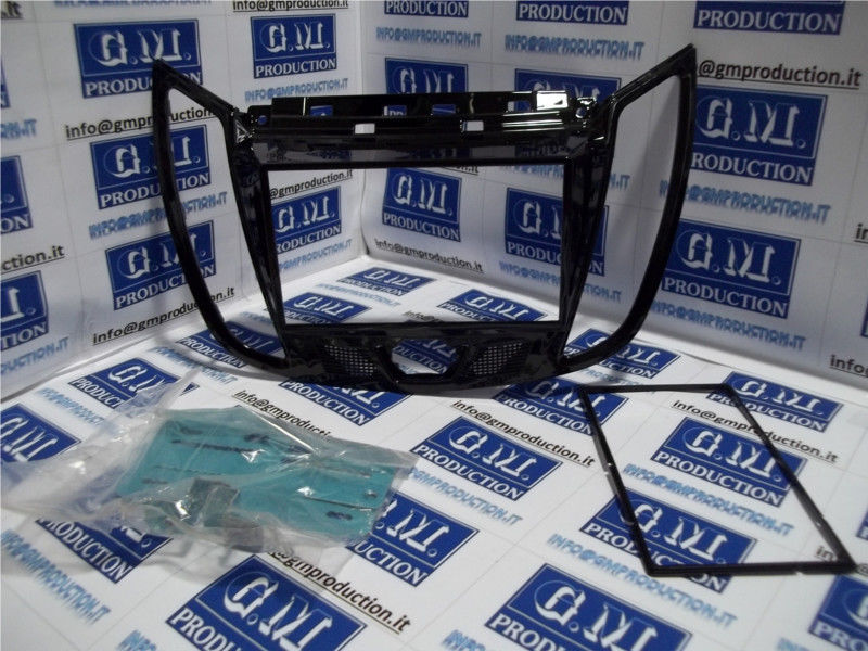 Mascherina autoradio monitor kit Doppio 2 Din SOLA Ford KUGA 2011 in poi - NERO LUCIDO